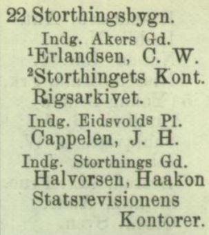 Faksimile adressebok 1884