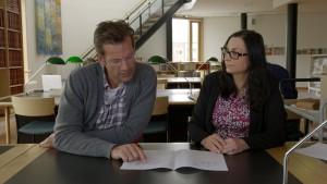 Lesesalen Johanne Bergkvist og Jon Almaas Foto NRK-Monster