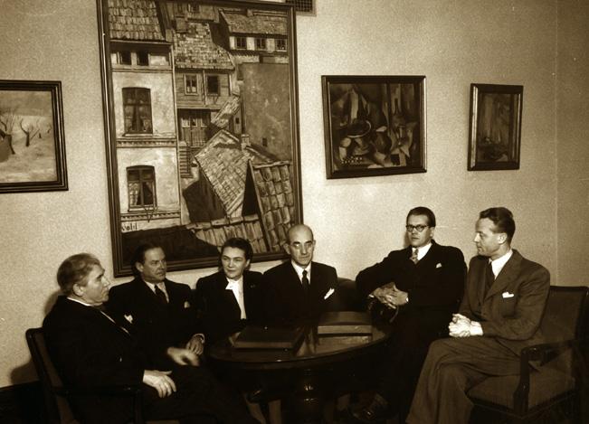 Foto av styret i Oslo kinematografer, 1951. Fotograf ukjent.