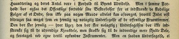 Utdrag fra Withs innlegg i debatten i bystyret 26. juni 1840. Aktykker Christiania kommune 1837-1843.