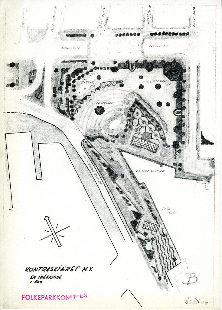 Forslag til folkepark på Kontraskjæret.