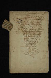 Forsiden til jordebok fra 1697. Foto: Kirsti Gulowsen, Oslo byarkiv.