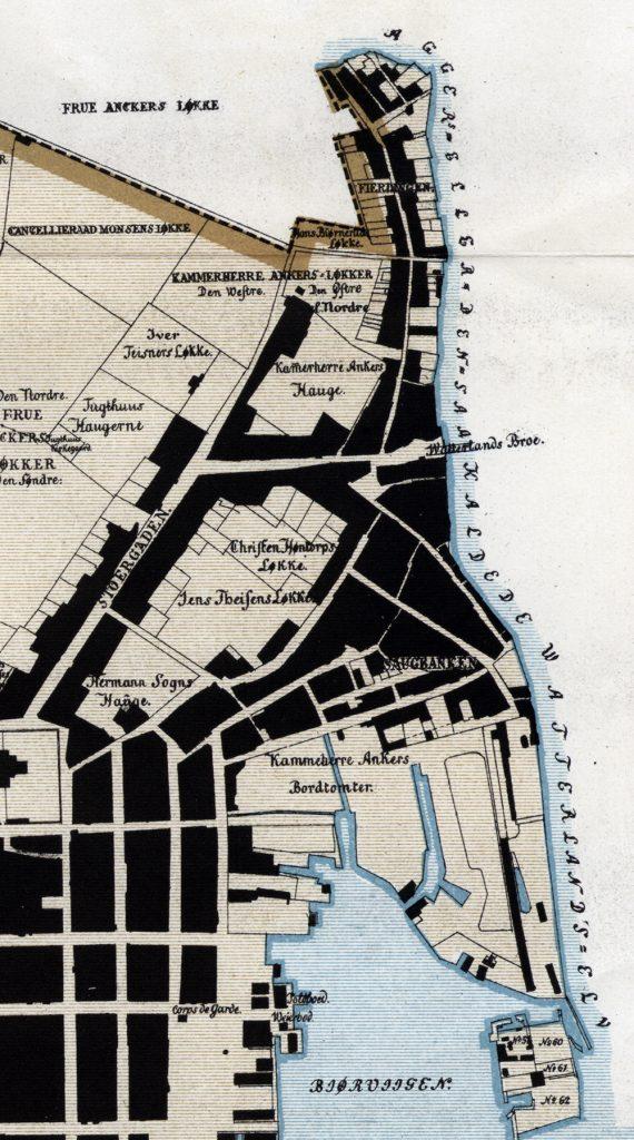 Vaterland på kart fra 1794, av Patroclus von Hirsch. Utsnitt.