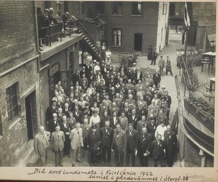 Fra landsmøtet i 1922 i Storgata 38. Fotograf: Eyolfson.